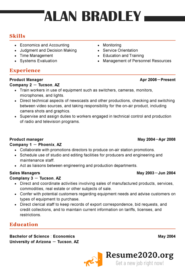 best resume sample 2020