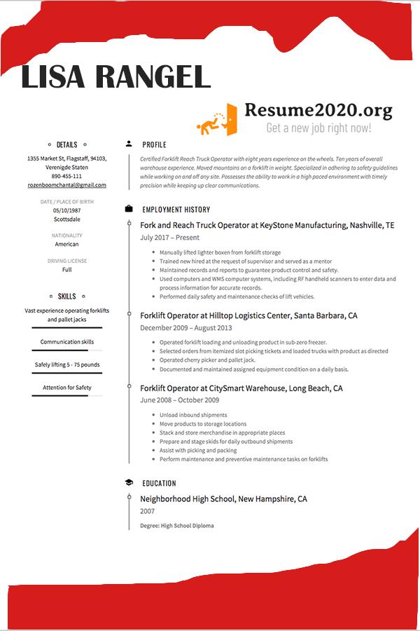 Latest resume format 2020 (+ Templates) ⋆ Resume 2020