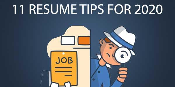resume tips for 2020