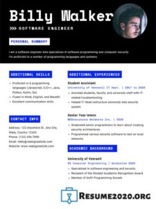 outstanding resume template 2020