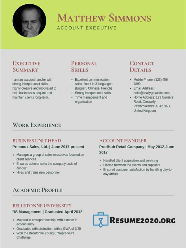 Best 24 Resume Templates 2020 Compilation 2  U22c6 Resume 2020