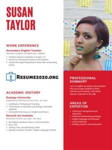 2020 CV template