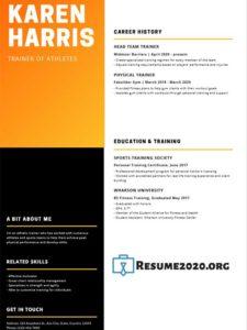 Resume example 2020 for teacher