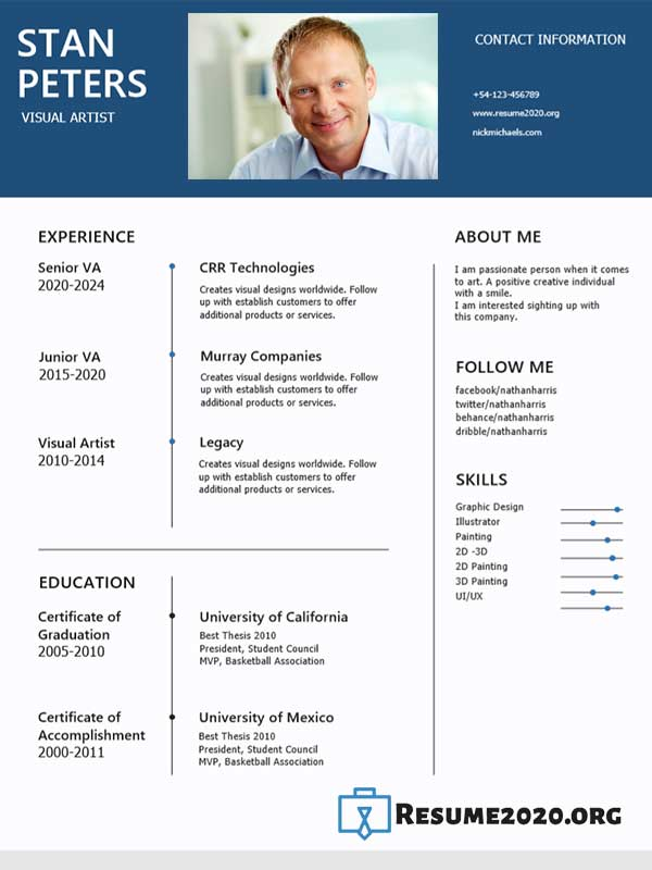 Functional 2020 resume example