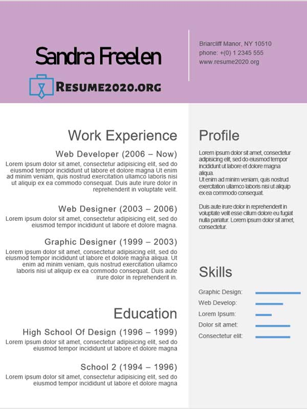 2020 best resume template