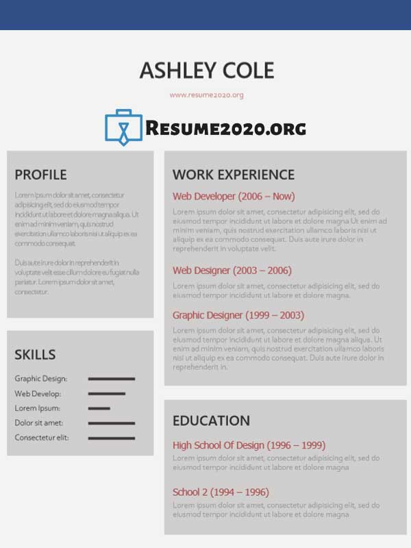 best resume templates 2020