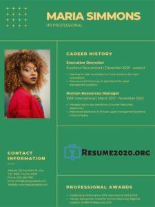 CV format 2020