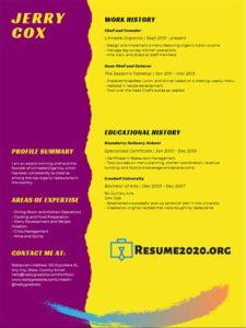 resume format 2020