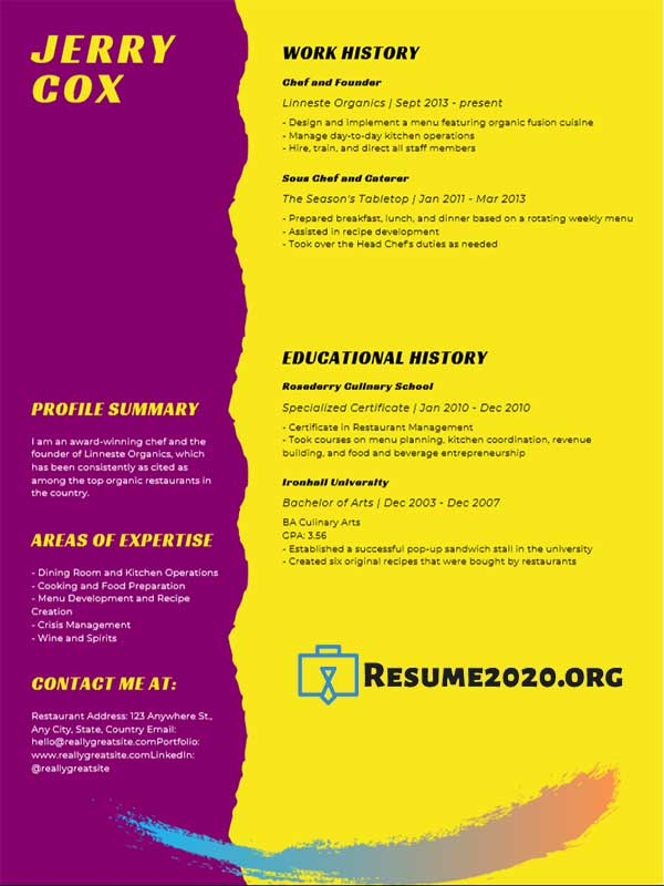 Best 25 Resume 2020 Templates Compilation 1 ⋆ Resume 2020