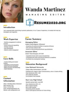 best resume 2020 sample