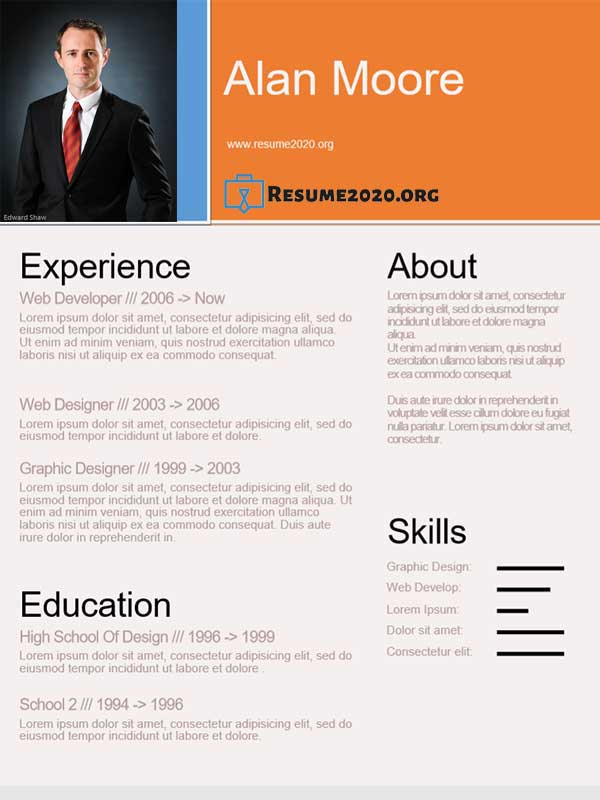 Functional Resume Format 2020 ⋆ Download Free Templates